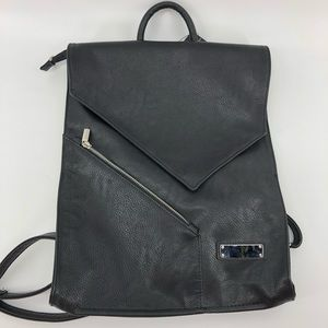 Sominta Bags - Sominta Lithuania Black Leather Backpack New